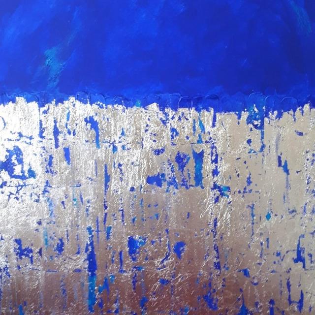 Mixed Media, Blue painting, Zaahirah Muthy